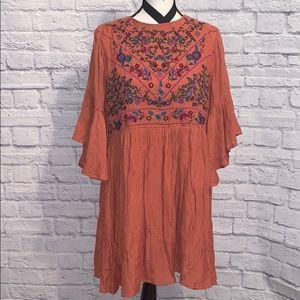 Umgee Boho Bell Sleeve Dress